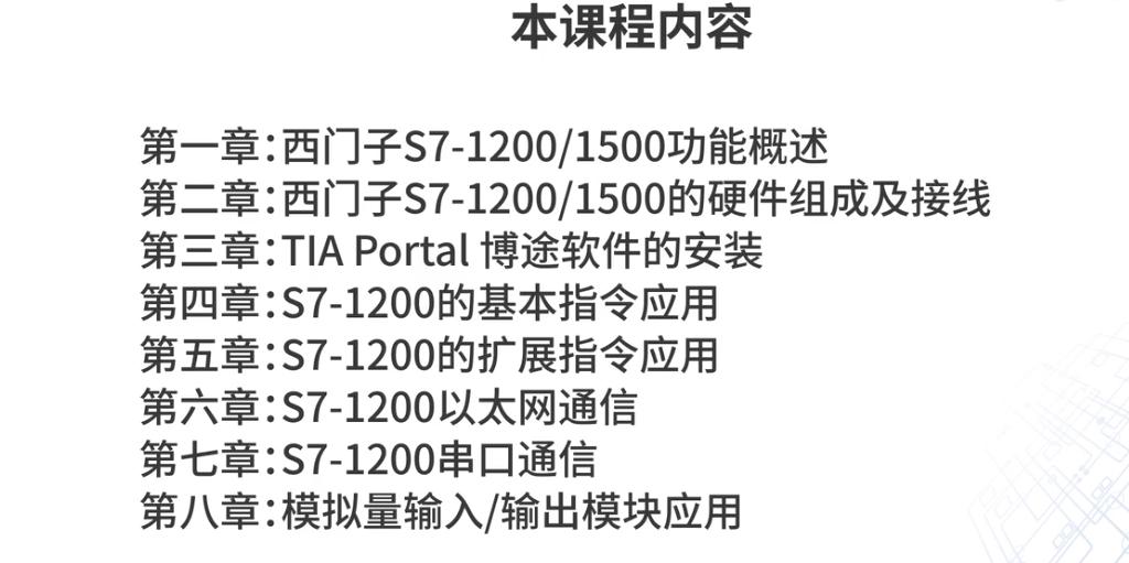 西门子S7-1200/1500应用技术视频教程