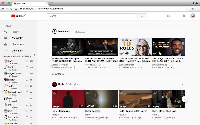 Youtube 订阅频道分类管理插件