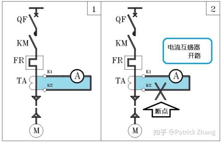 电流互感器为什么要短接不能开路?